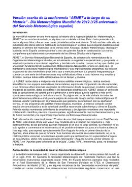 Conferencia de Manuel Palomares - Agencia Estatal de Meteorología