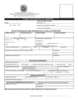 planilla de solicitud de pasaporte datos personales como aparecen