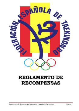 Reglamento de Recompensas - Federación Española de Taekwondo