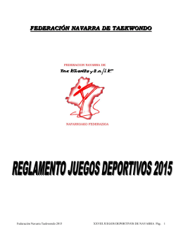Reglamento jjdd 2015 - Federación Navarra de Taekwondo
