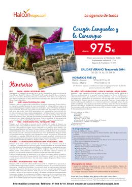 975€ - Halcón Viajes
