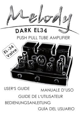 DARK EL34 (MULTILINGUE) - Hi End tube amplifier from Melburne