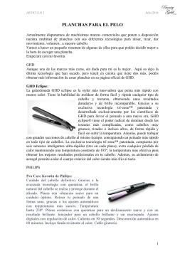 02. Planchas del pelo