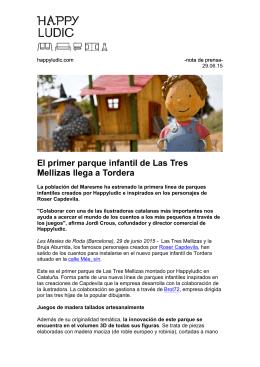 El primer parque infantil de Las Tres Mellizas llega