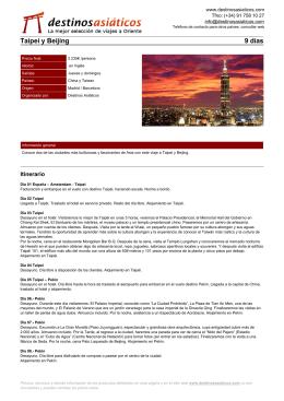 Taipei y Beijing - Destinos Asiáticos