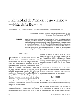 Enfermedad de Ménière: caso clínico y revisión de la literatura
