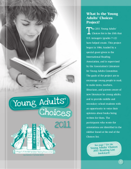 Young Adults` Choices 2011 Reading List