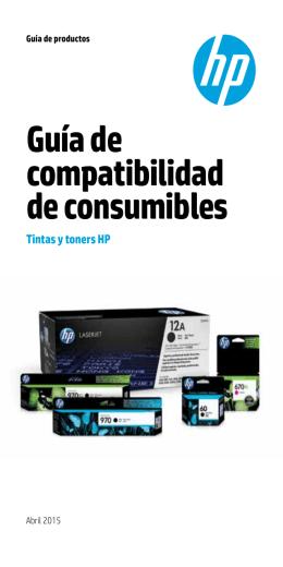 Guía de compatibilidad de consumibles