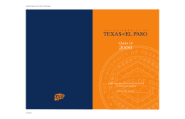 Spring - University of Texas at El Paso