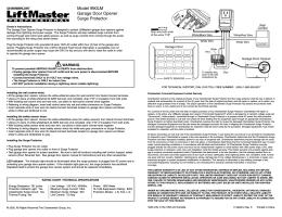 Model 990LM Garage Door Opener Surge Protector