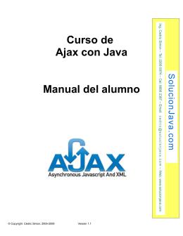 Manual del curso de Ajax