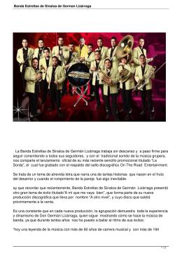 Banda Estrellas de Sinaloa de German Lizárraga