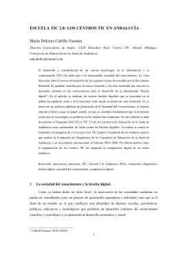 ESCUELA TIC 2.0: LOS CENTROS TIC EN ANDALUCÍA María