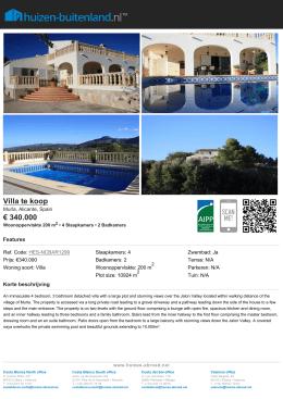 Villa te koop € 340.000