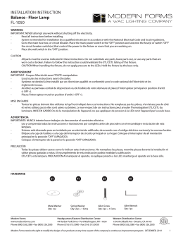 INSTALLATION INSTRUCTION Balance - Floor