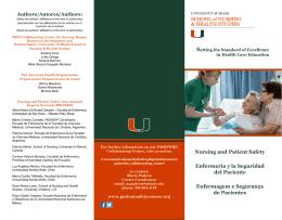 Nursing and Patient Safety Enfermería y la Seguridad del Paciente