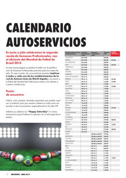 Consulte las actividades en los Autoservicios de Würth España