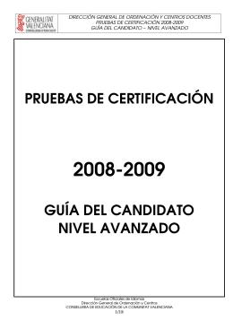 pruebas de certificación guía del candidato nivel avanzado