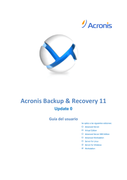 Acronis Backup & Recovery 11