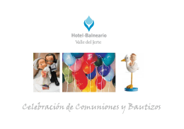 comuniones y bautizos en hotel