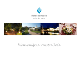 Celebración de bodas 2012 - Hotel Balneario Valle del Jerte