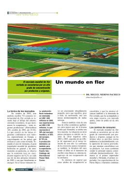 artículo revista Un mundo en flor