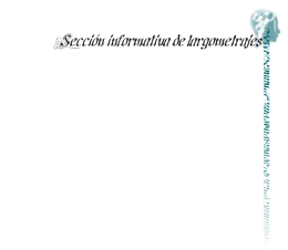 Sección informativa de largometrajes
