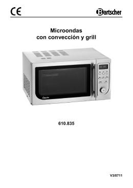 Microondas con convección y grill