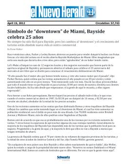 """Símbolo de """"downtown"""" de Miami, Bayside celebra 25 años"""