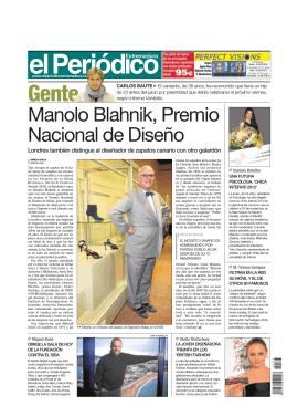 Manolo Blahnik, Premio Nacional de Diseño