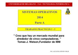 SISTEMAS OPERATIVOS 2014 Parte A