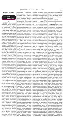 Contratos Sociales - Gobernación de Mendoza