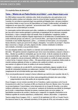 documento - Colegio Argentino de Cirujanos Cardiovasculares