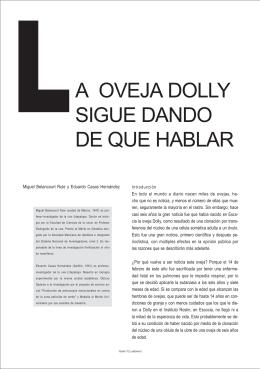 LA OVEJA DOLLY SIGUE DANDO DE QUE HABLAR