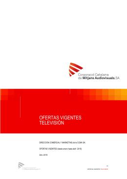 OFERTAS VIGENTES TELEVISIÓN