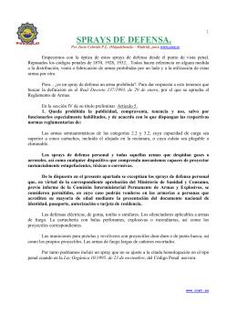 SPRAYS DE DEFENSA. - SFP – Sindicato de Funcionarios y Policías