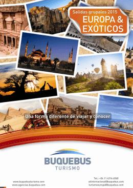 Salidas Grupales Acompañadas Buquebus Turismo 2015