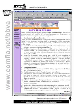 www.comfia.net/bbva - Comfia-CCOO