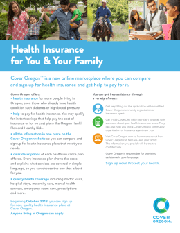 Health Insurance for You & Your Family