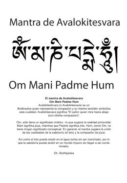 Significado del Mantra OM MANI PADME HUM