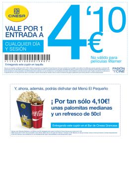 ¡ Por tan sólo 4,10€!