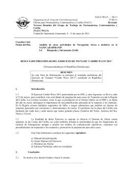 NACC/WG/3 — NI/11 Organización de Aviación Civil