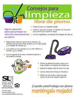 LSSL cleaning tips SPANISH