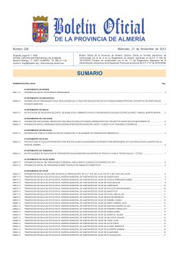 DE LA PROVINCIA DE ALMERÍA - Biblioteca Diputación Almería