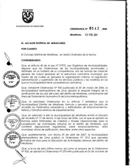 Ordenanza - Municipalidad de Miraflores