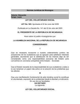Ley de voluntariado social - Observatorio de Derechos Humanos y