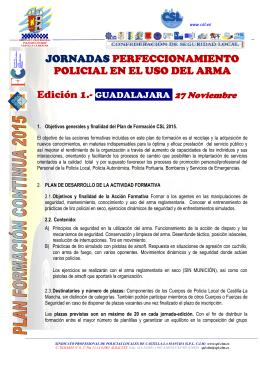 JORNADAS PERFECCIONAMIENTO POLICIAL EN EL - SPL-CLM
