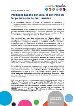 Iker Jiménez renueva su contrato de larga duración con Mediaset