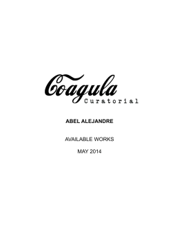 abel alejandre - Coagula Curatorial