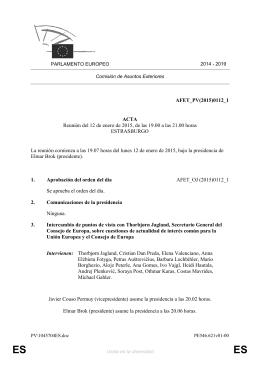 AFET_PV(2015)0112_1 ACTA Reunión del 12 de enero